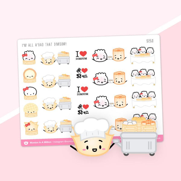 All about that dim sum planner stickers