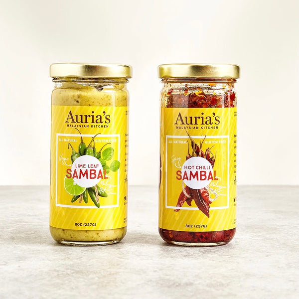 Jars of Auria's Kitchen sambals