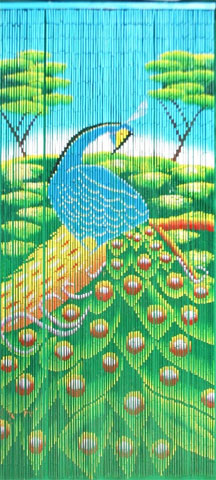 Fine Bamboo Curtain - Peacock