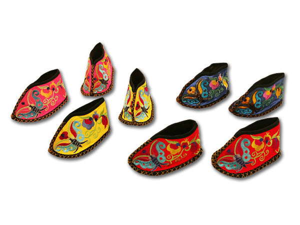 Traditional Miao Embroidered Baby Shoes