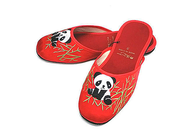 Panda Embroidered Slippers - For Girl ( Available in Mid June )