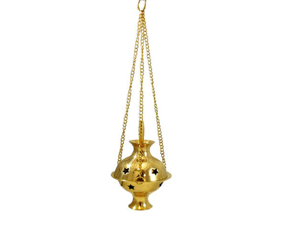 Hanging Brass Incense Cone Burner