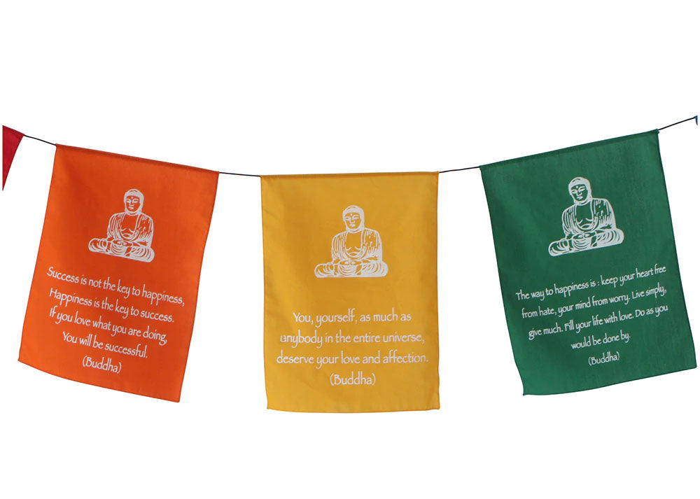 "Six Buddha Prayer Banner (5.5"")"