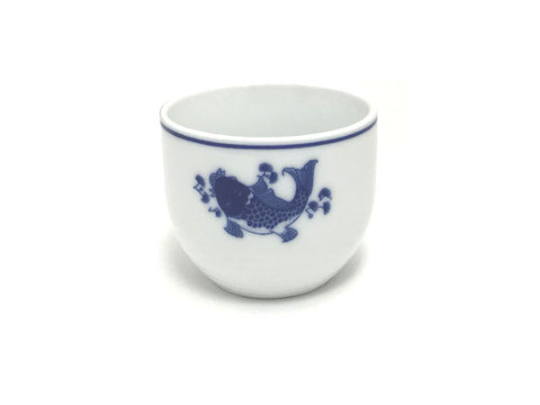 Blue Fish Design Ceramic Tea Cup
