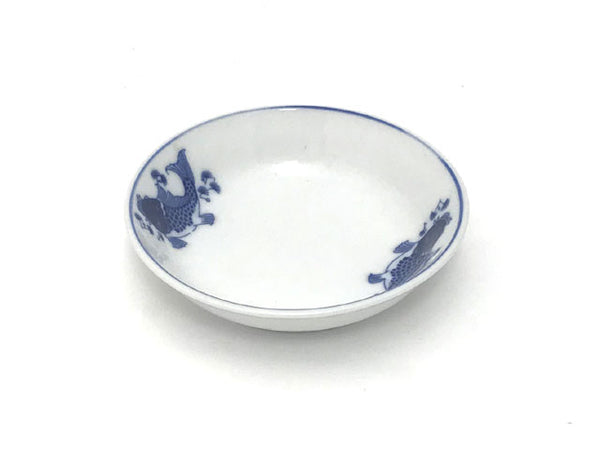 Blue Fish Design Sauce Dish