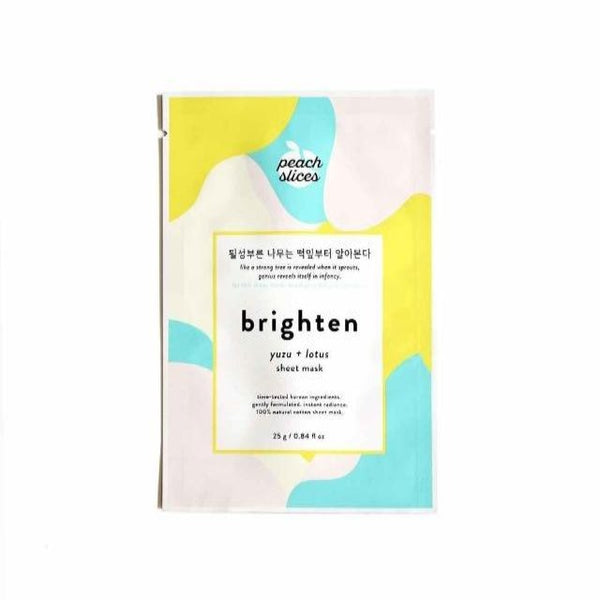 K-beauty sheet mask for brightening the skin