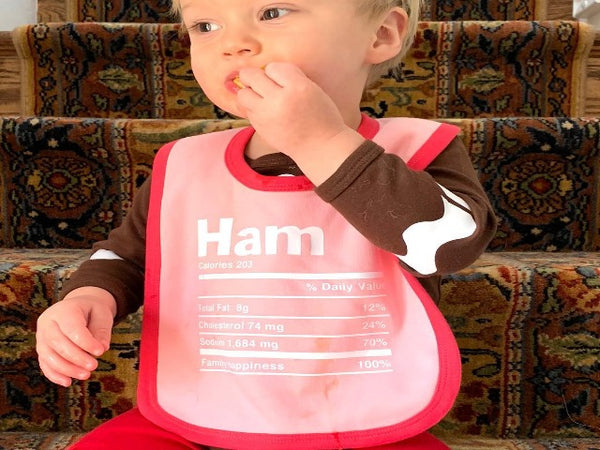 bib that says ham