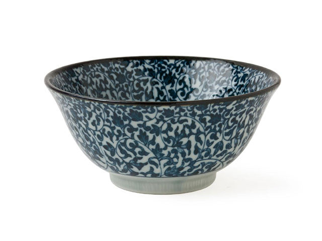 Kyo Karakusa Blue Vine Design Bowl
