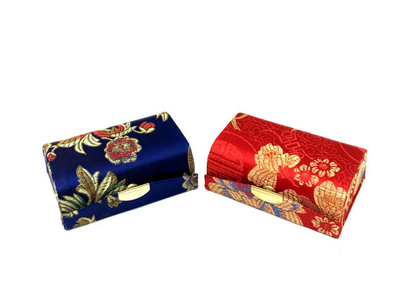 Brocade Lipstick Case w. Mirror (Hold 2 Lipsticks) ( Temp out of Stock )