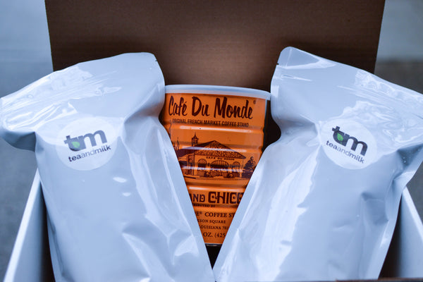 DIY Bubble Tea Kit: Cafe du Monde Coffee (With Metal Straw Kit)