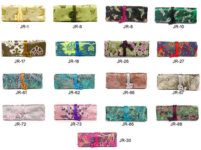 Floral Brocade Jewelry Roll