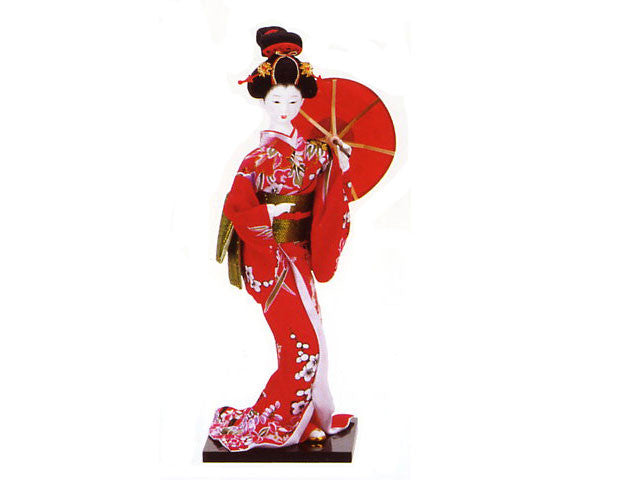Japanese Lady holding Red Parasol