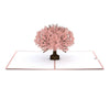 Beautiful pop-up card with pink sakura tree