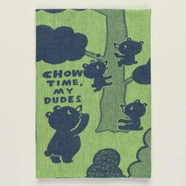 chow time dish towel