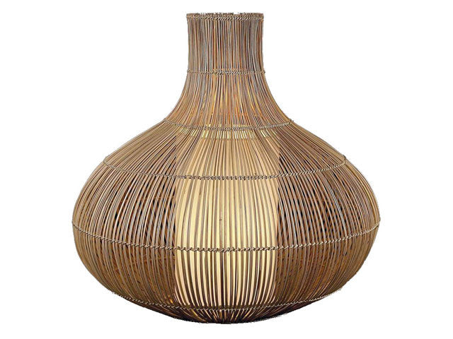 Natural Coco Mid Ribs Weaved Kobe Lamp