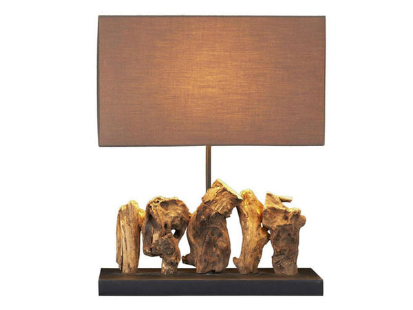 Aragon Scupted Teak Root Table Lamp