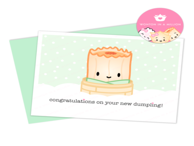 New Baby Dim Sum Card: Congrats on Your New Dumpling Siumai