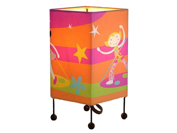 Kids Table Lamp - Girl with Star Design