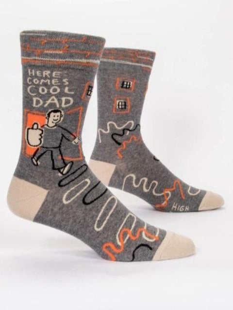 Men's Funny Socks: Here Comes Cool Dad