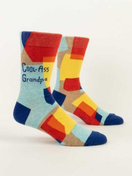 colorful socks that say cool-ass grandpa