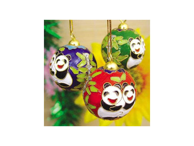 Cloisonne Panda Ornaments ( Temp out of stock-all colors )