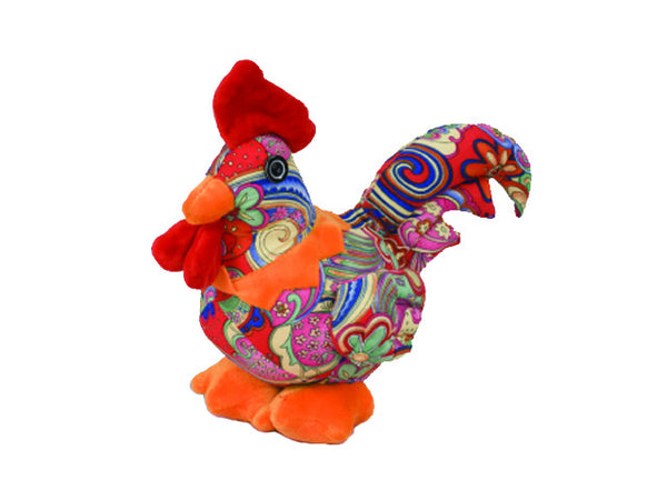 Cotton Plush Rooster - Pink