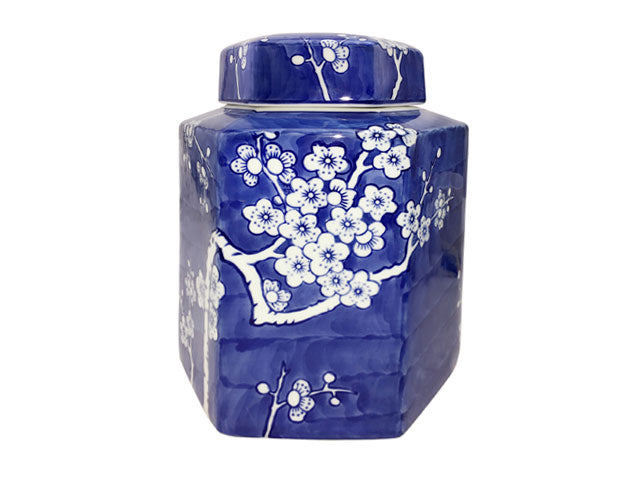 Hand-Painted Plum Blossom Design Porcelain Jar