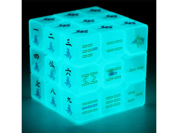 Glow in the Dark Mah Jong Rubiks Cube
