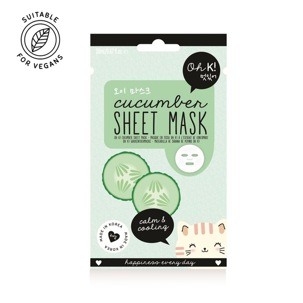 Oh K! Cucumber Sheet Mask for hydrating and calming the skin