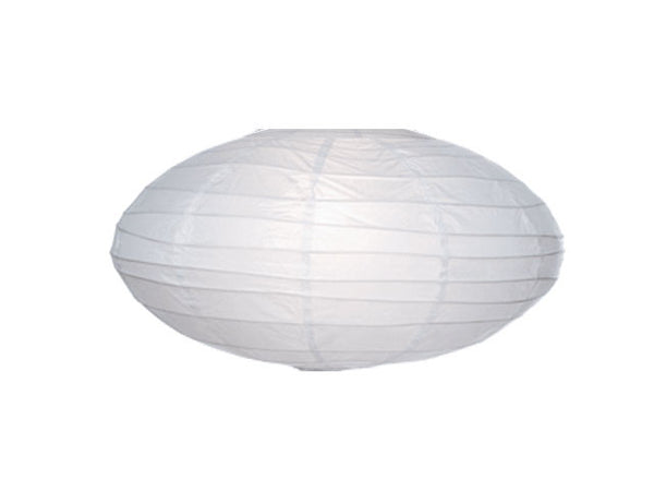 Uneven Bamboo Rib Oval Shape Paper Lantern - 24 in.