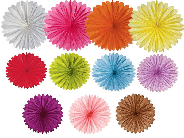 DIY Rice Paper Hanging Daisy Fan - 14in.