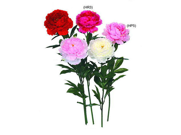 Artificial Flowers - Single Peony (Available in Pink)