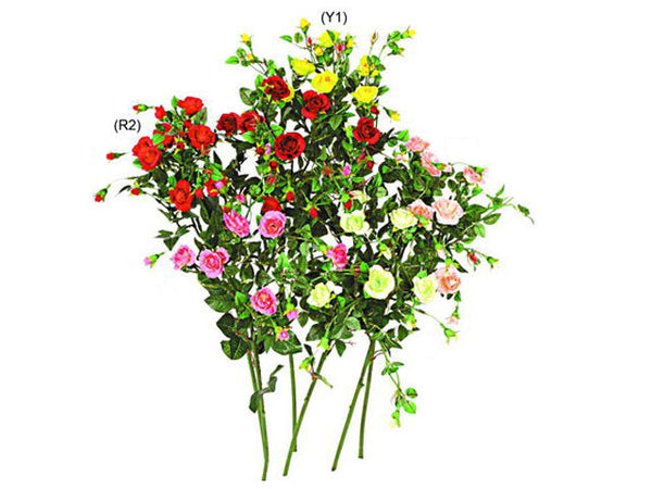 Artificial Flowers   Rose Branch