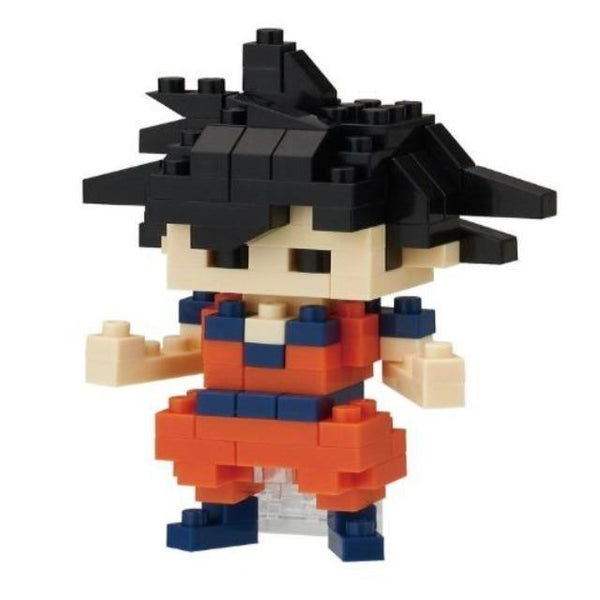 Nanoblock model of Goku character from Dragon Ball Z