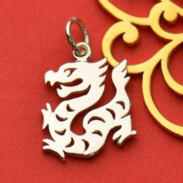 Sterling Silver Chinese Zodiac Charm: Dragon