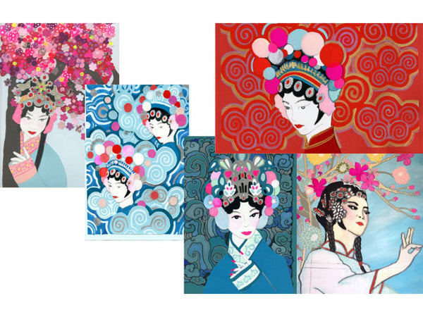 Peking Opera Design Note Card