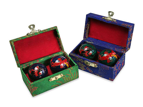 Cloisonne Metal Therapy Balls /  Health Balls