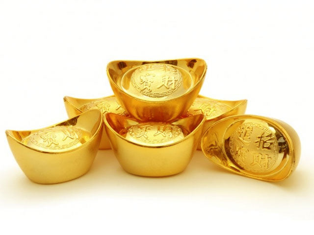 Lucky Gold Ingot Display - Plastic..