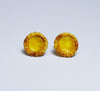 Adorable egg tart earrings, front view