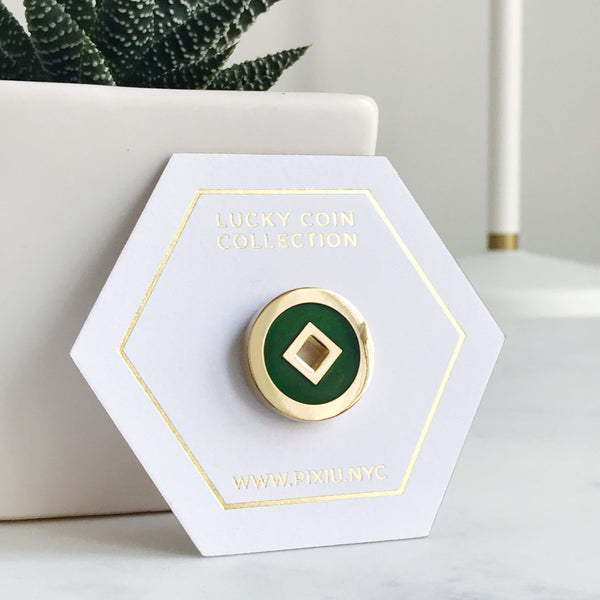 Lucky Coin Enamel Pins
