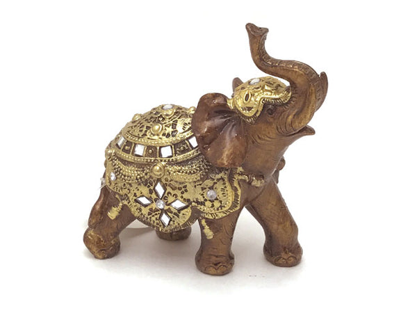 Golden Embellishment Elephant Figurine
