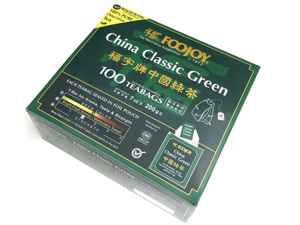 Foojoy China Classic Green Tea - NEW Sealed in Foil Teabag