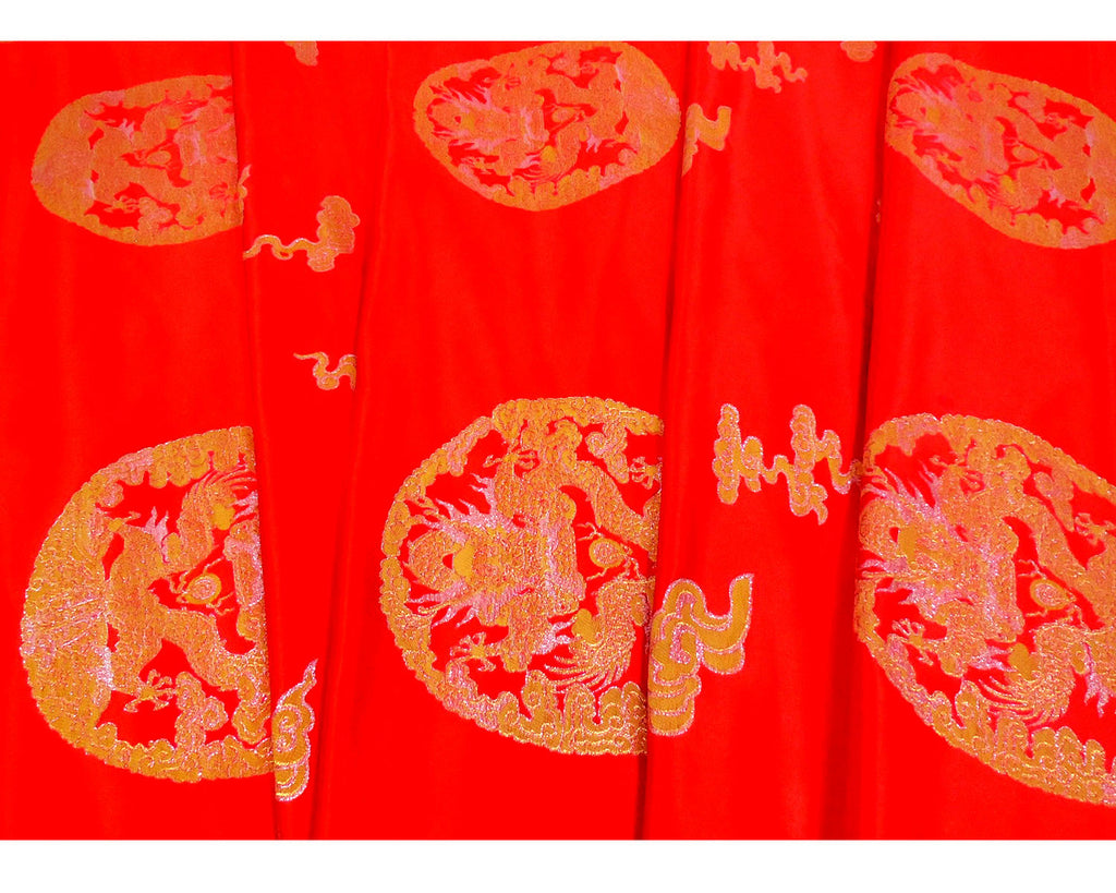 Dragon Medallion Brocade Fabric