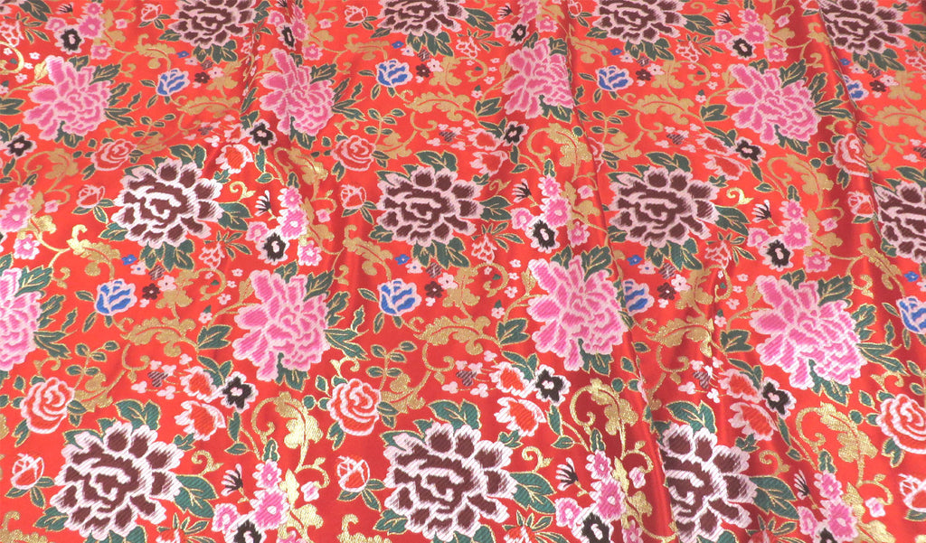 Floral Print Brocade Fabric