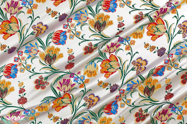 Tulip Floral Brocade Fabric
