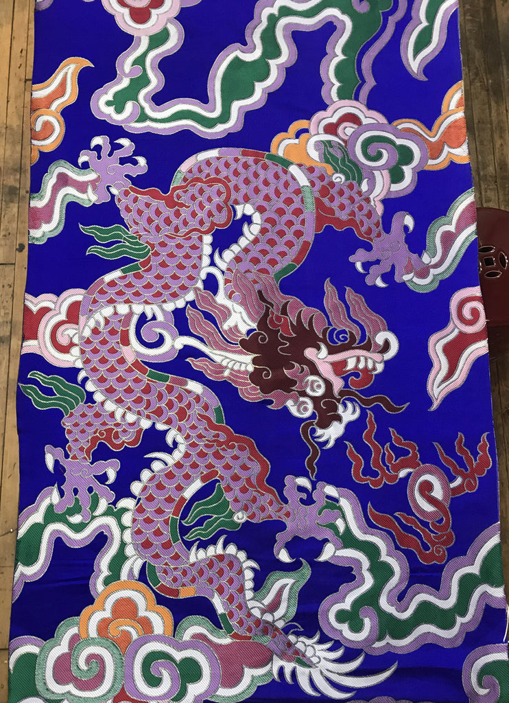 Multi Color Giant Dragon Cloud Brocade Fabric