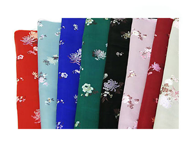 Seasonal Flower Brocade Fabric