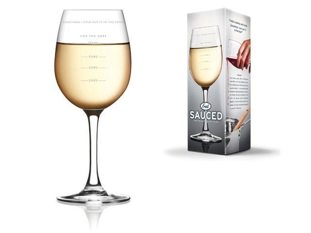Sauced - Measuring Wine Glass