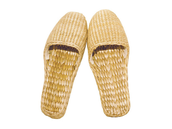 Braided Straw Slippers