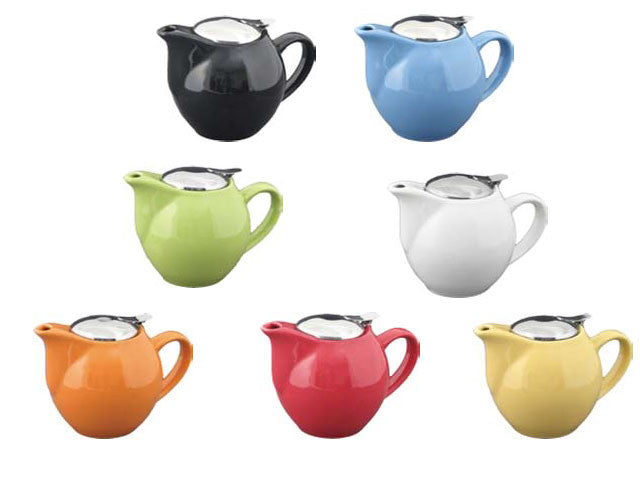 Solid Color Ceramic Teapot with Infuser
